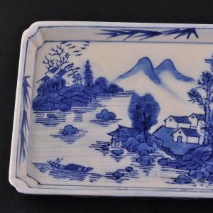 Rectangular Qinghua plate