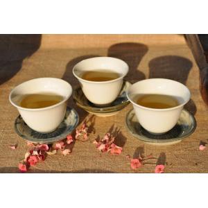 Tea porcelain-Ivory white flower cup