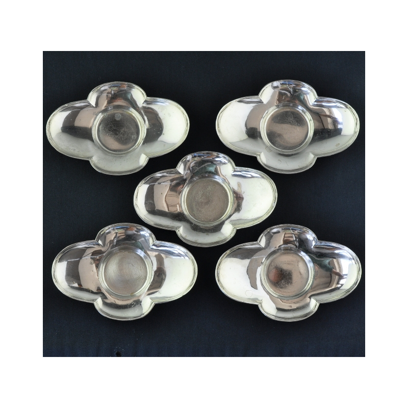 5 Japanese white steel Cha Tuo (saucers)