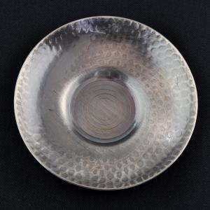 5 Cha Tuo (soucoupes) japonaises en fer argenté