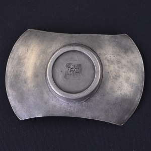 5 Japanese pewter Cha Tuo