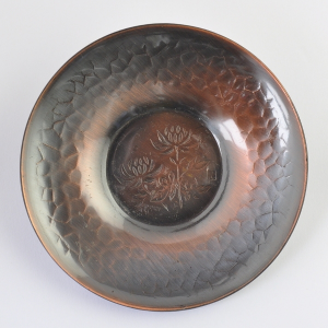 5 Japanese copper Cha Tuo (saucers)