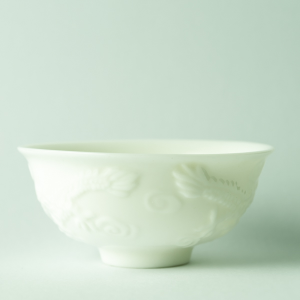 Dragons and pearl ivory cup