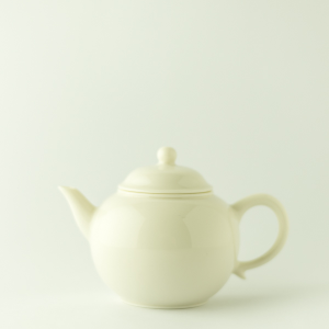 Ivory white mini teapot