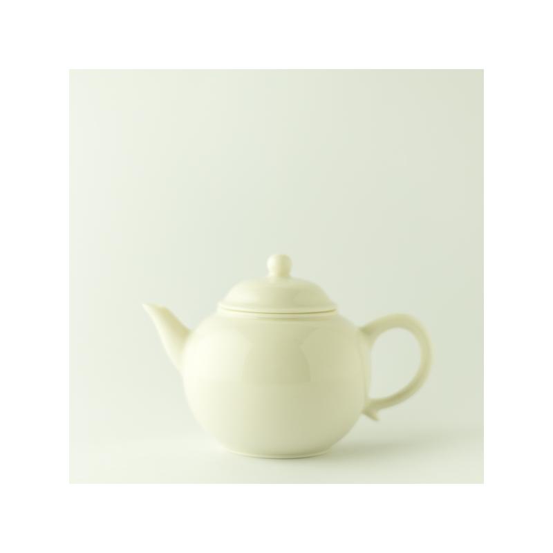 Mini théière en porcelaine blanc ivoire
