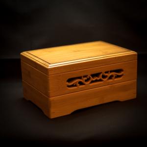 Big Bamboo carved basket/box/tray