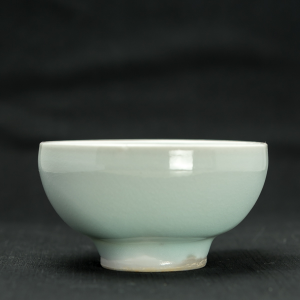 Big light blue celadon cup by Michel François