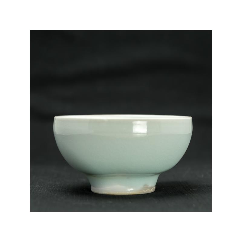 Big light blue celadon cup by Michel François
