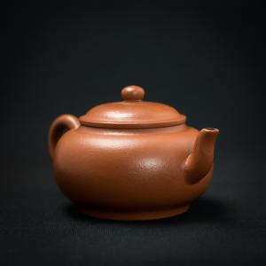 Yixing modern zhuni flat Teapot