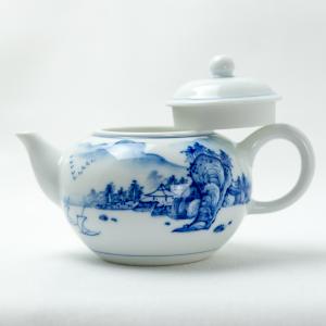 Qinghua landscape teapot