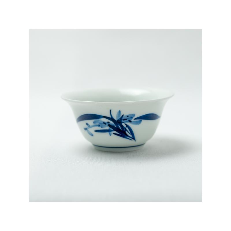 Qinghua orchid tea cup