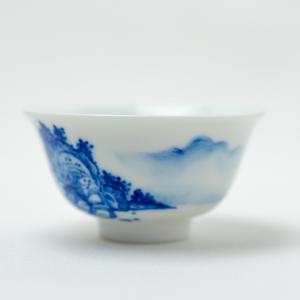Coupe qinghua au motif de paysage