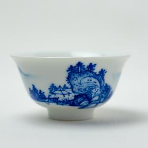 Qinghua landscape tea cup