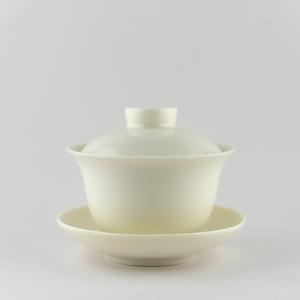 Gaiwan en porcelaine blanche ivoire