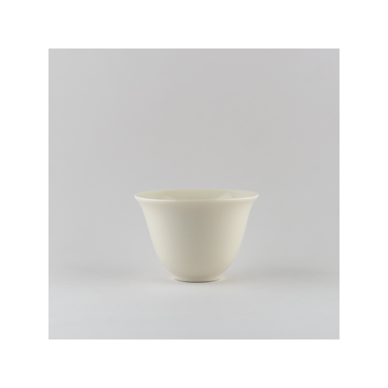 Ivory white flower cup