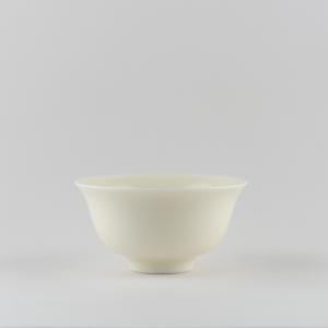 Coupe classique en porcelaine blanche ivoire