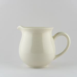 Ivory white pitcher