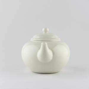 Théière en porcelaine blanche ivoire