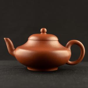 Yixing modern zhuni flat Deng Teapot