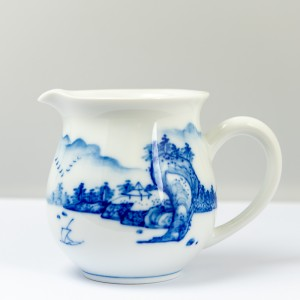 Qinghua landscape pitcher
