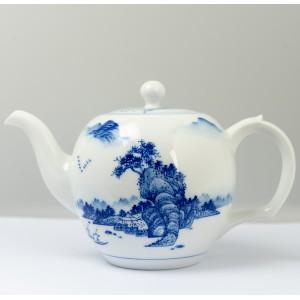 Qinghua landscape big teapot